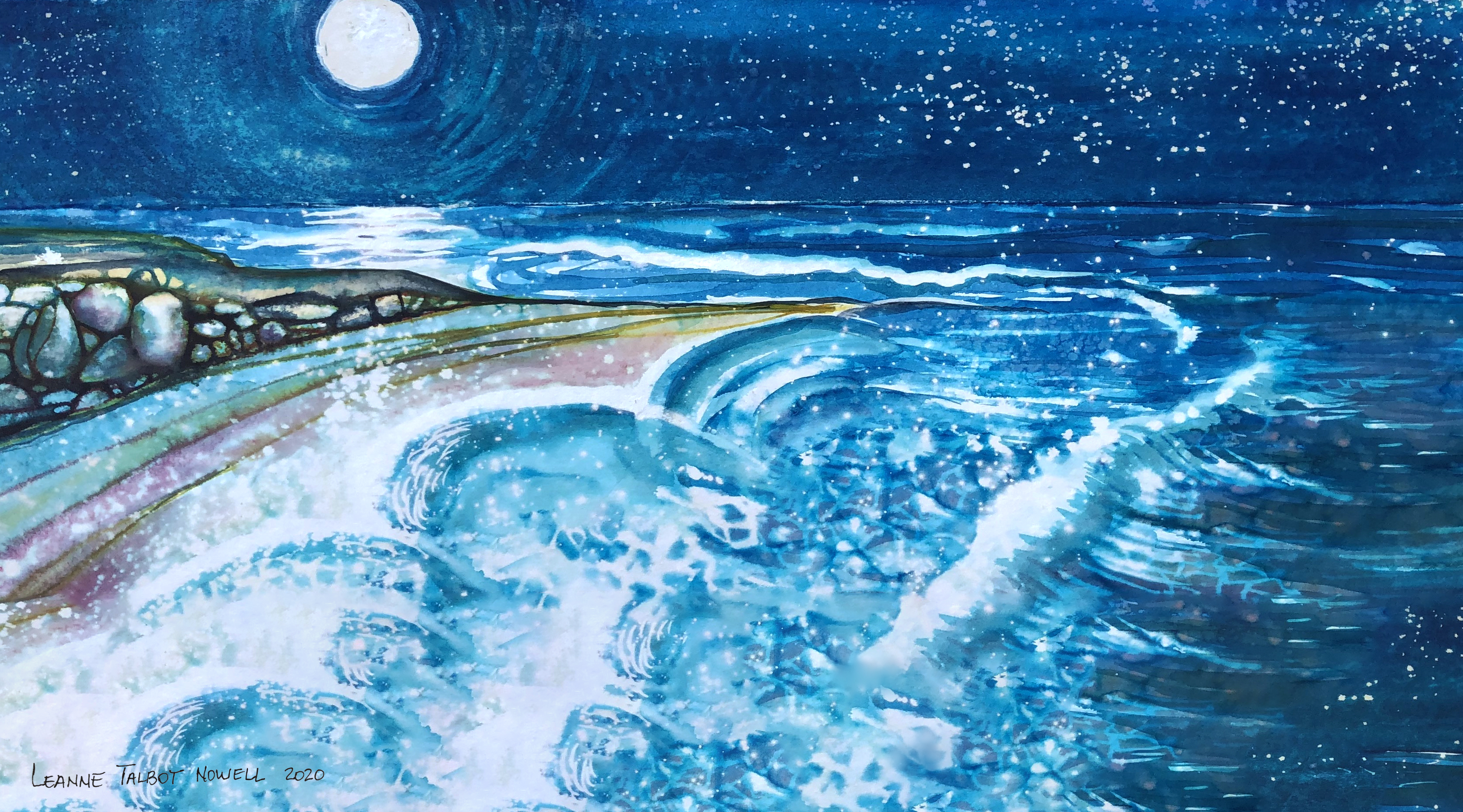 Leanne Talbot Nowell watercolour sea